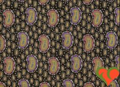 Kaffe Fassett for Liberty Art Fabric -- Paisley Collection Babishka Black LB02 Half Yard. Retired. Rare. VHTF. OOP. by FayCarrieQAOT on Etsy