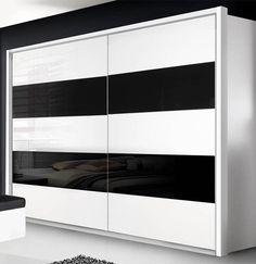 New Forte Freemont Komplett Schlafzimmer wei u Schwarzglas mit Schwebet renschrank u Bettanlage Jetzt Forte Schlafzimmer online auf Rechnung bestellen