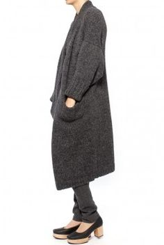 Assembly New York Oversized Knit Cardigan - Charcoal.