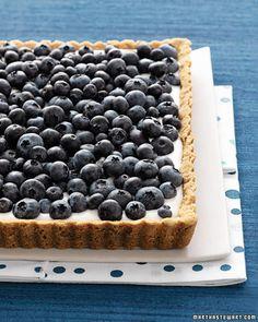 Blueberry Tart made with fresh blueberries and a buttermilk custard filling - Martha Stewart Recipes