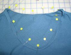 Changing neckline of T-Shirts and other knit tops for more feminine look. This was so easy. Will be using again and again.