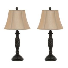 """Homestyle Collection 27"""" H Table Lamp with Bell Shade"""