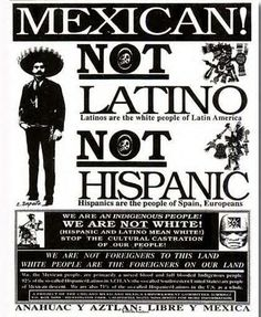 But I had a professed of Latino Literature who would disagreed with this. Chicano used to mean something very different.