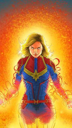 Captain Marvel Action Art IPhone Wallpaper - IPhone Wallpapers