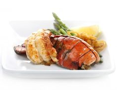 Steak and Seafood at Café la Cave (Up to Off). Two Options Available. Shellfish Recipes, Seafood Recipes, Cooking Recipes, Top Recipes, Meal Recipes, Free Recipes, Lobster Tail Recipe Steamed, Risotto, Kitchens