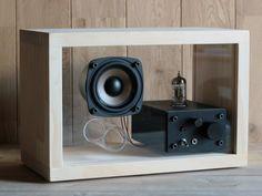 acrylic speaker pine [真空管アンプ内蔵] - 松山淳一