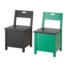 IKEA - SÄLLSKAP, Stuhl mit Aufbewahrung, Praktisch für Kunststofftüten, Toilettenpapier, Küchenrollen, Handschuhe, Strümpfe usw.Die Holzmaserung der massiven Kiefer und markante Astspuren verleihen jedem Möbelstück typischen Charakter.