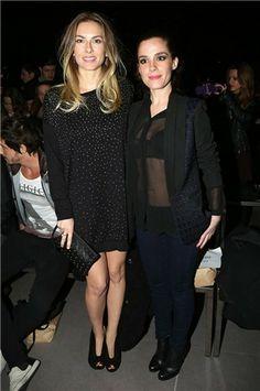 Kira Miró y Nuria Gago en el 'front row' de Yerse en la 080 Barcelona Fashion otoño-invierno 14/15 -  Mujerhoy.com