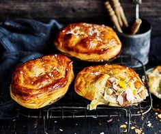 Dig your spoon through the flaky pastry to get to the creamy, chicken centre. Packed full of flavoursome leek and roast potatoes for a satisfying meal Pastry Recipes, Pie Recipes, Chicken Recipes, Cooking Recipes, Rhubarb And Custard, Best Pancake Recipe, Condensed Milk Recipes, Australian Food, Best Dessert Recipes