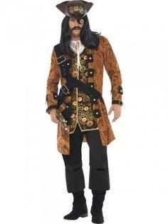 Pirate M - 28710M -- Huis Baeyens Toneelkostuums, Carnavalkostuums, Verhuur, Verkoop, Feestgerief, Grime, Kostuums, Carnaval, Halloween