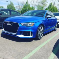 1st (?) US spec Audi RS3 sedan Your take where we will end up tuning wise? Baseline is 400hp ( ) 460hp ( ) 480hp ( ) 500hp ( ) 520hp -- #newRS3sedan #blueRS3 pic @audifan82 ---- oooo #audidriven - what else ---- #Audi #RS3 #AudiRS3 #RS3sedan #quattro #4rings #blue #newRS3 #drivenbyvorsprung #Audicolor  #blackoptics #audisport #blueaudi #carsbyaudisport