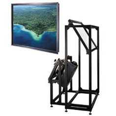 "Thru-the-Wall Rear Fixed Frame Projection Screen Viewing Area: 65"" H x 116"" W. The Thru-The-Wall system is a rear projection packagethat comes complete with a factory framed rear projectionscreen of your choice and a Rear Projection Module (RPM). The RPM is standard with a fine-tuning projector mountcradle, which provides a host of alignment adjustments and features a mirror mounted by a three-point suspension system to ensure superior stability and flatness. The RPM is a precision made..."