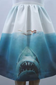 Beware of Sharks full skirt made to order by NerdAlertCreations