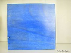 Blue Azul Wooden Coptic Bound Journal blank book by hobbyholica, $35.00