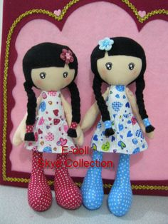 ....i love these dolls! they look as if they have part Japanese! (i can also picture them in kimonos, too)...so CUTE!...