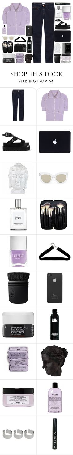"""""""I try to hold it in but it still hurts"""" by pure-and-valuable ❤ liked on Polyvore featuring Closed, Miu Miu, MM6 Maison Margiela, Quay, philosophy, Morphe, Nails Inc., Boohoo, NARS Cosmetics and CO"""