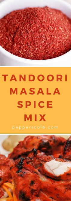 If you love the exotic flavors of Indian cuisine, then you'll certainly love using a tandoori masala spice mix in the kitchen. This seasoning is delicious Homemade Spice Blends, Homemade Spices, Homemade Seasonings, Spice Mixes, Masala Spice, Garam Masala, Rub Recipes, Cooking Recipes, Smoker Recipes