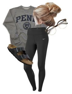 """""""BEcause"""" by carleighcochran on Polyvore featuring NIKE and Birkenstock"""