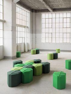Puf tapizado de lana LEAF SEAT - Design by nico