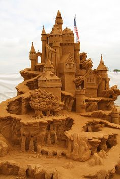 International Sand Sculpture Contest in Moscow