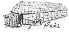 The Tuscarora people lived in villages of longhouses , which were large wood buildings covered with sheets of elm bark. Tuscarora longhouses were up to a hundred feet long, and each one housed an entire clan (as many as 60 people.)