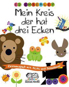 MEIN KREIS DER HAT DREI ECKEN – Zeichenspaß mit Schablone und Stift, Herausgegeben von Ed Emberley, 80 Seiten + Schablone, Hardcover, Format 22 x 28 cm, ISBN 978-3-86355-134-6, 9,90 (D) / 10,20 (A) / CHF 14,90, Bestellbar unter http://iobic.de/74r