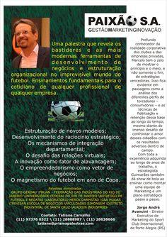 Conheça a fantástica Palestra do nosso querido #Palestrante #MarceloGuimarães... Para maiores informações, acesse: www,prismapalestras.com ou entre em contato conosco (11) 2888-8987.