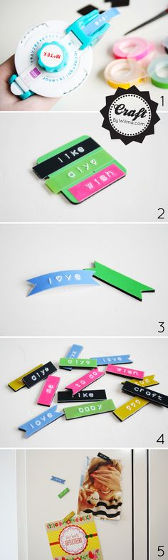 Add colour with DIY typewriter magnets