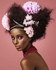 Pretty in pink 💕🌸@jdthecombo  @edwardcruzmakeup @romorganhairstudio @elmerolsenmodels @imgmodels #blackgirlmagic