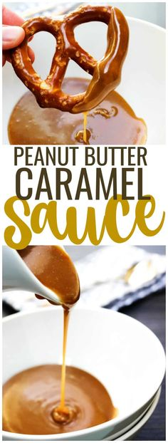 Friends, you're only ten minutes from peanut butter and caramel euphoria. Ten minutes is all is takes to make this PEANUT BUTTER CARAMEL SAUCE! #peanutbutter #sauce #dessert