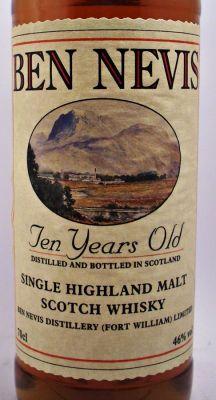 Ben Nevis Scotch Whisky - Single Malt Scotch Whisky - Highland Malt Whisky - Ben Nevis Scotch Whisky 10 year old 46% - Specialist Whisky Sho...