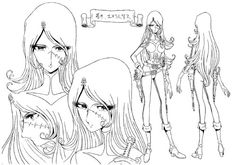 Leiji Matsumoto ★ || CHARACTER DESIGN REFERENCES | キャラクターデザイン • Find more artworks at https://www.facebook.com/CharacterDesignReferences & http://www.pinterest.com/characterdesigh and learn how to draw: #concept #art #animation #anime #comics || ★