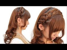 braided headband with curls Open Hairstyles, Kawaii Hairstyles, Ponytail Hairstyles, Hairstyles Haircuts, Wedding Hairstyles, Men's Hairstyle, Wedding Ponytail, Royal Beauty, Hair Arrange