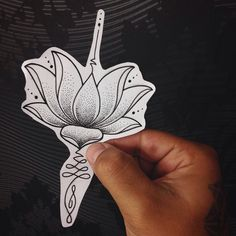 Love that the lotus is in the middle of the unalome