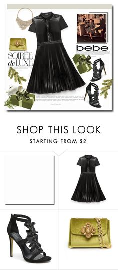 """Soirée de Luxe with bebe Holiday: Contest Entry"" by adduncan ❤ liked on Polyvore featuring moda e Bebe"