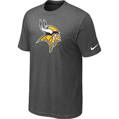 Minnesota Vikings Sideline Legend Authentic Logo Dri-FIT Nike NFL T-Shirt  Crow Grey  Emillia Kelly 7d007988b