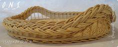 Поделка изделие Плетение Последние работы уходящего лета    набор подносов на кухню Трубочки бумажные фото 3