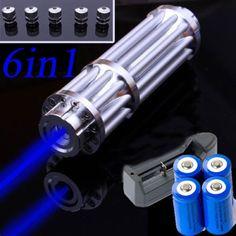 Power 445nm-450nm 1W Blue Laser Pointer Focus Visible Beam Quality Laser Module…