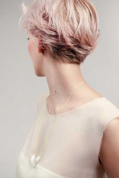 short hair pink color | Blue dyed hairs with the Purple highlights looks remarkable on the ...