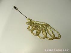 【水引ハットピン】 翼 (ゴールド) | Lumi*cl 中村瑠水子水引折方教室 Art World, Knots, Gold Necklace, Idea Box, Earrings, Pattern, Amazing, Jewelry, Celtic Knot