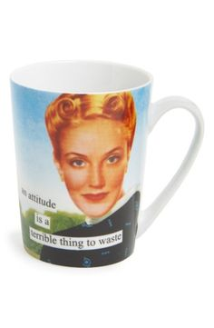 Anne Taintor 'An Attitude Is a Terrible Thing to Waste' Mug | No