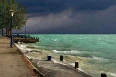 Storm approaching at Lake Balaton - Hungary - July, 2015 Best Places In Europe, Places To See, Beautiful Places, Beautiful Pictures, Foto Portrait, Foto Poster, Budapest Hungary, Amazing Adventures, Holiday Travel