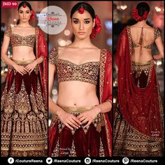 LOOK LIKE A CELEBRITY! Hand made #Velvet bridal lehenga wth zardosi work. We provide excellent customized stitching and you can get this outfit exclusively made for yourself! Get in touch with us on +91-9819416785. We also do #international shipping.