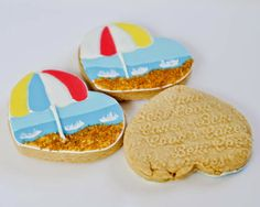 Beki Cook's Cake Blog: Summer Beach Cookies (And my Imprint Rolling Pin)