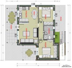 خريطة استراحه صغيرة 2 غرفة نوم » arab arch