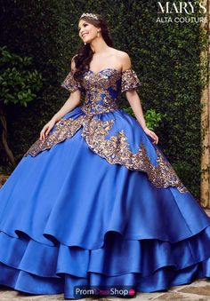 Wow everyone and wear this gorgeous Mary's ball gown dress for your quinceanera. This dramatic style featured a flattering fitted bodice and a lo. Ball Gown Dresses, 15 Dresses, Couture Dresses, Elegant Dresses, Beautiful Dresses, Gown Skirt, Fashion Dresses, Sweet 16 Dresses, Dress Prom