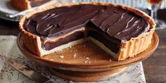 Deze taart komt altijd gelegen. Chocolade taart met karamel zeezout.