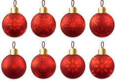 Beautiful red christmas ball vector set - https://www.welovesolo.com/beautiful-red-christmas-ball-vector-set/?utm_source=PN&utm_medium=welovesolo59%40gmail.com&utm_campaign=SNAP%2Bfrom%2BWeLoveSoLo