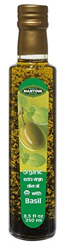 Mantova Basil Organic Extra Virgin Olive Oil, 8.5-Ounce Bottles (Pack of 3) -- Don't get left behind, see this great product offer  : Baking supplies