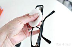 Faça o seu próprio limpeza toalhetes para óculos